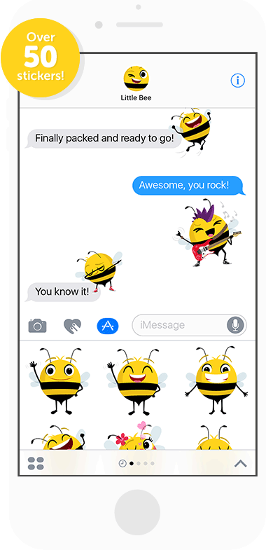Beemojis stickers for iOS 10 Messages