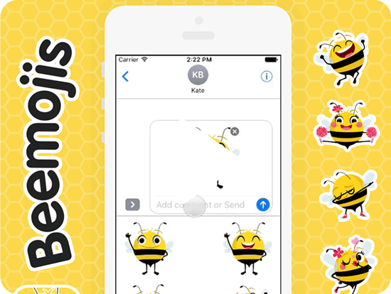 Beemojis stickers Video